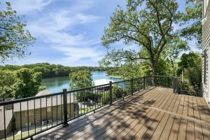Deck overlooking a body of water