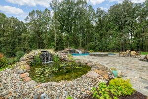 Exterior water feature/landscaping