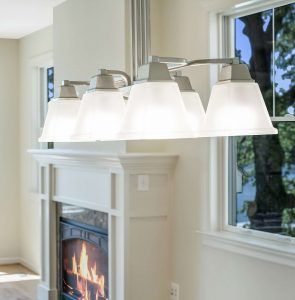 Fireplace with lighting