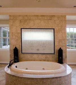 Master bathroom whirlpool tub