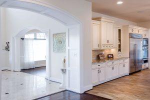 Arched kitchen entrance
