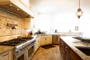 Kitchen countertops and stainless steel appliances